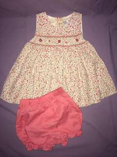 Baby's Dress and shorts 6mos lot of 2