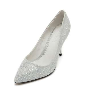 Pazzion Silver Sparkly Heels
