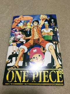 one piece postcard and stickers