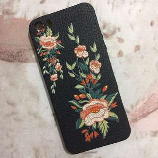 EMBEOIDERED FLOWER CASE iPHONE 5s / SOFT CASE iPHONE 5s