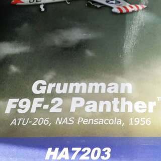 1/48 Air Power Series HA7203 Grumman F9F-2 Panther ATU-206 (Advanced Training Unit) NAS Pensacola, Florida, 1956 LIMITED EDITION with certificate