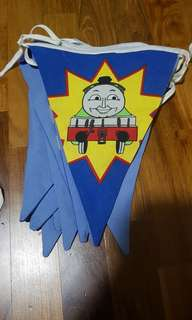 thomas train party banner fabric