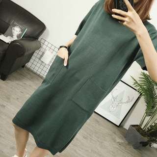 BN Forest Knitted Nursing Dress