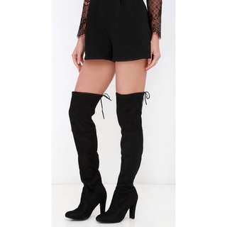 Size 8 Steve Madden Gorgeous over the knee suede boots