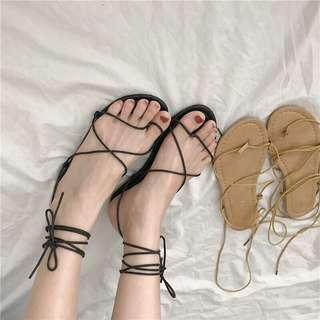 🚚 全新 現貨 免運 羅馬綁帶涼鞋