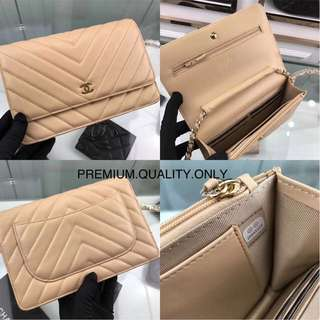 Chanel Wallet on Chain in Beige colour