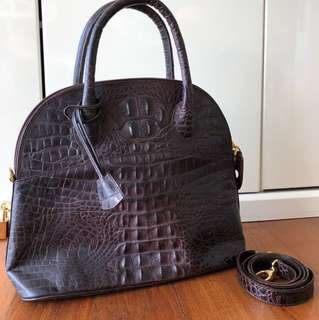 b299c0cfcb Pre-loved Italian label Nieri Argenti Crocodile Skin Bag   MADE IN ITALY