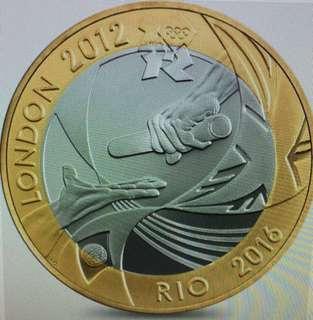 罕有! 奧運聖火傳遞紀念幣 [2012 London to 2016 Rio]