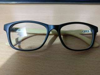 Black/Wooden Spectacle Frame (No lenses)