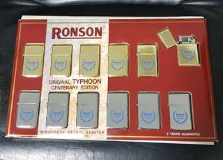 Ronson Original Typhoon Centenary Edition Lighters