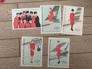 Cx 國泰航空珍藏版歷代制服紀念名信片 post card