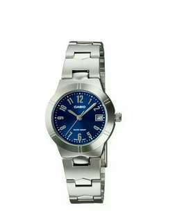 Original and brand new casio watch for women with 1 year warranty  LTP-1241D-2A2f
