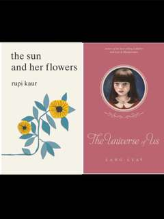 BNIP Instock | the universe of us / the sun and her flowers by rupi Kaur / Lang leav