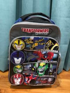Transformer School Bag with Pulley (lightly used & 9/10 condition)