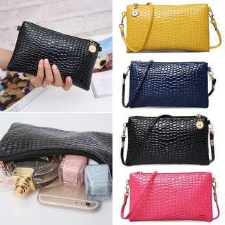 Long Wallet Clutch Sling Bag PO
