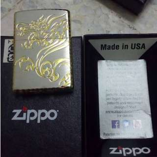zippo lighter dragon tribal beast