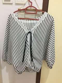 New batwing stripe top