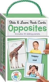 Flashcards Opposites. For 1yr+ to age 6