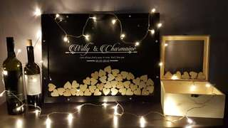 Rustic Black Customised/Personalised Wedding Guest Book (A2 size)