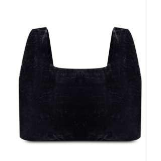 MANGO velvet shopper bag
