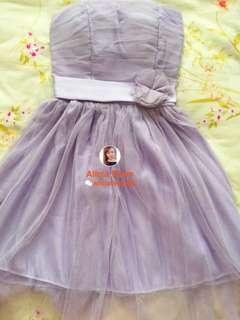 PRELOVED Purple Bridesmaid / Dinner Tutu Tube Dress #20under