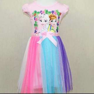 Frozen Dress For Age 2-6 yrs Old