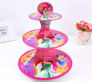💕 Disney Princess party supplies - dessert cupcake stand / party deco