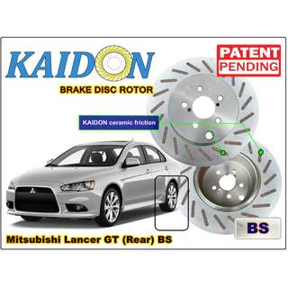 "Mitsubishi Lancer GT brake disc rotor KAIDON (Rear) type ""RS"" / ""BS"" spec"