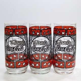 懷舊  可口可樂玻璃杯3只(不議價)