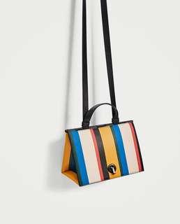Zara rainbow stripes triangle bag