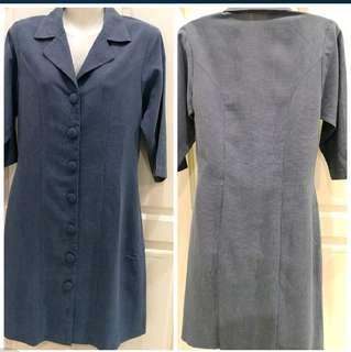 L Classic Blue Dress