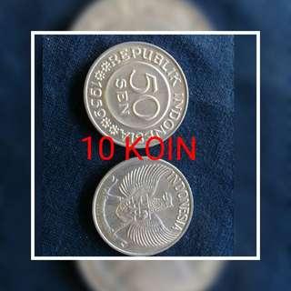 """Dijual cpt 10 uang koin (50sen thn 1959) yg ska barang antik yu buruan di order karna stok terbatas.yg minat or tnya"""" langsusng chat wa 089644442316"""