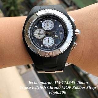 Technomarine TM-115349 46mm Cruise Jellyfish Chrono MOP Rubber Strap