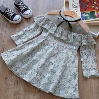 Girl Strapless Lace Princess Dress