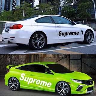 Supreme Car Body Decal