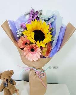 Large sunflower and gerbera bouquet