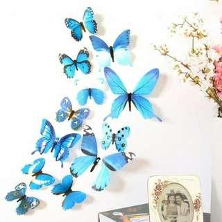 3D Butterfly Wall Sticker H023 30.000 isi 12 BELI 2 50.000