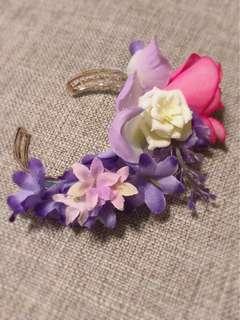 獨特手鈪手花 襟花