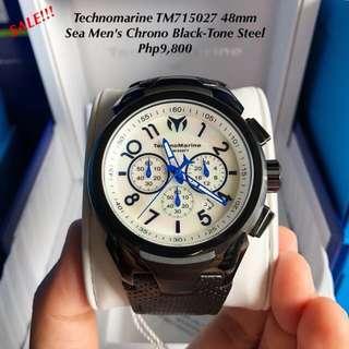 Technomarine TM715027 48mm Sea Men's Chrono Black-Tone Steel