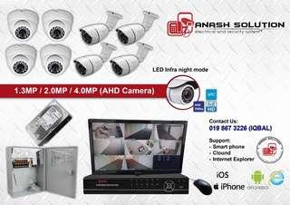 CCTV 2.0MP HD / FULL HD 4CH 8CH 16CH with wiring