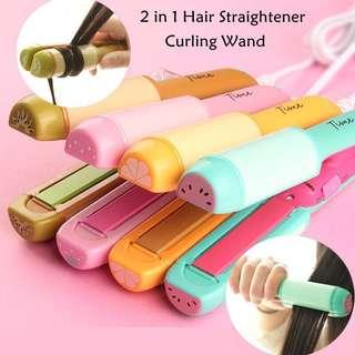 2 in 1 Mini fruity Curler&Straightener