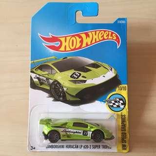 Hot Wheels 319/365 Lamborghini Huracan LP 620-2 Super Trofeo