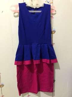 Peplum dress (blue)