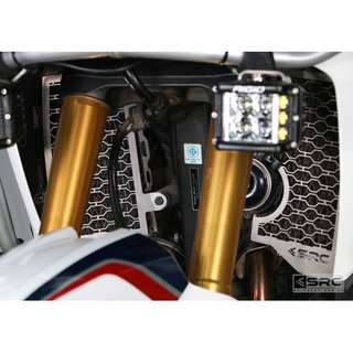 Africa Twin (2016 ~ ) SRC Radiator Guard (Available in Black or Silver)