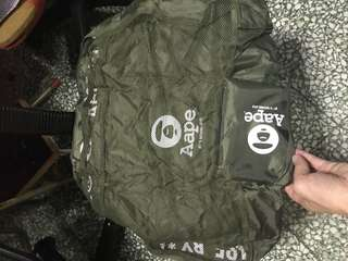 Aape by a Bathing Ape fordable bag 可摺收納袋