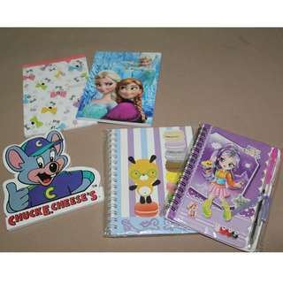 Mini Notebooks Cartoon Characters