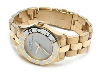 Marc Jacobs Ladies Blade Watch (Gold)