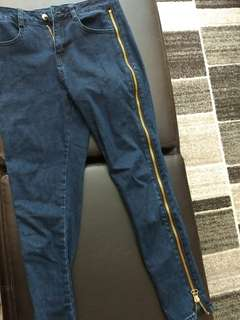 New fashion nova side zipper jeans
