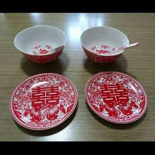 Chinese wedding bowl set