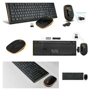 TechRise Full-Size Ergonomic 2.4Ghz Wireless Keyboard and Mouse Set Combo for PC - UK Layout